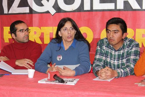 Con diagnóstico negativo para la gestión provincial el Partido Obrero presentó sus candidatos